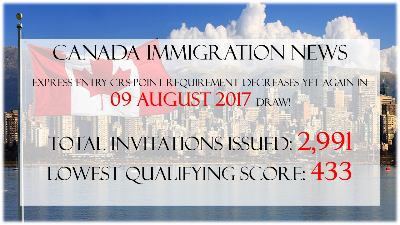 Canada latest express entry draw on 09 august 2017 stopboris Images