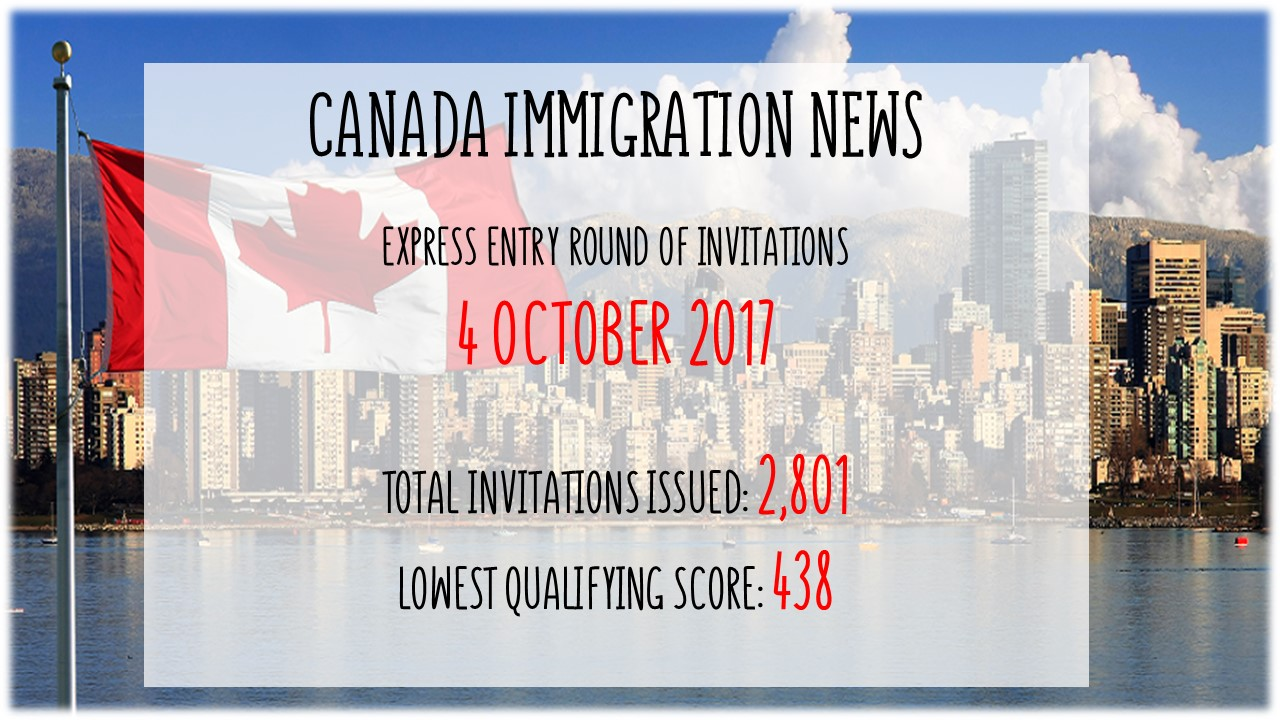 Canada latest express entry draw on 4 october 2017 stopboris Gallery
