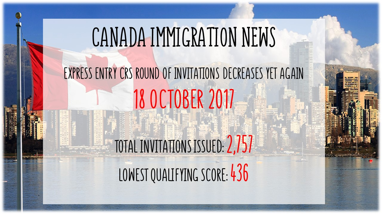 Canada – Latest Express Entry Draw On 18 October 2017