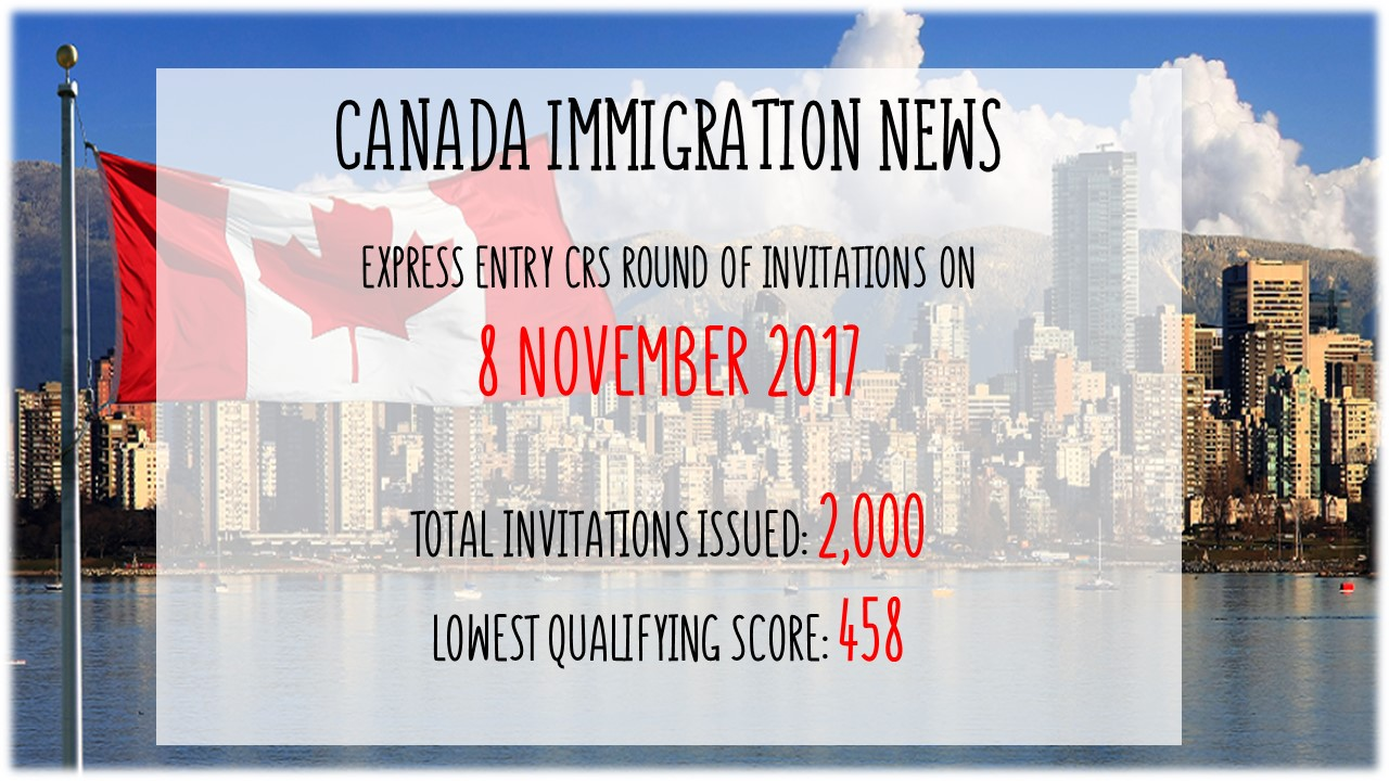 Canada latest express entry draw on 8 november 2017 stopboris Images