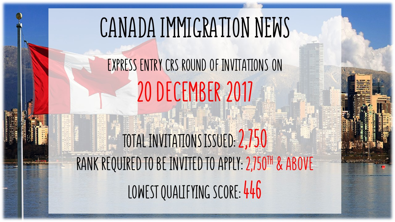 Canada latest express entry draw on 20 december 2017 stopboris Image collections
