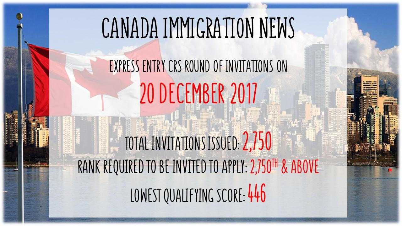 Canada latest express entry draw on 20 december 2017 stopboris Gallery